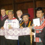 At the Honorary Doctorate Award Ceremony