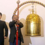 'World Peace Bell' ringing ceremony at the UN conference building,Melbourne, Australia